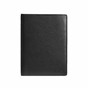 New Coach Leather Passport Case F93604 Black
