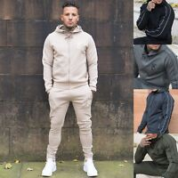 NEW MENS HOODIE TRACKSUIT TOP DESIGNER SLIM FIT GYM - SIZE S M L XL