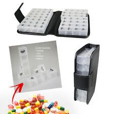 Pill Box Medicine Wallet Holder 14 Day Storage Tablets Weekly Travel Organiser
