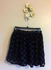 Black Polka Dot Mini Skirt by Mink Pink Layered Tutu-style Women's Small