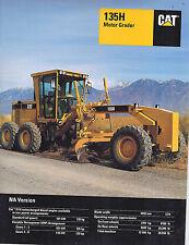 1998 Caterpillar 135H Motor Grader 19 Page Brochure