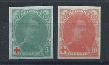 Belgique N°129/30** (MNH) Non dentelé 1914/15 - Croix rouge