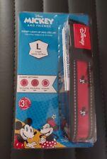 NEW Walt Disney MICKEY AND & FRIENDS Light Up Dog Pet Collar SIZE LARGE 64-70cm