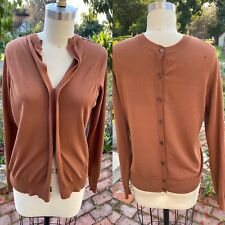 MARNI  Back Button Up Sweater Sz 38  brown