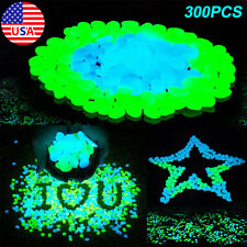 New listing 300Pack Glow in the Dark Pebbles Stones Gardens Pathway Glow Luminous Rocks Us