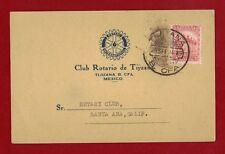 1934 Mexico Rotary Cover Mexico to California Rare
