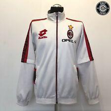 AC MILAN Lotto Vintage Retro Football Jacket Track Top 1996/97 (L) WEAH MALDINI