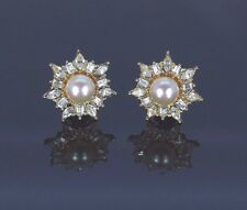 Christian Dior Earrings Yellow Gold Tone Plated Marquise Baguette Stones 22mm