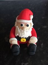 Edible Christmas Santa Cake Topper Icing Decoration