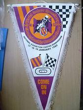 Speedway Pennants- 1980 WORLD INDOOR SPEEDWAY CHAMPIONSHIP @ Birmingham (45x26cm