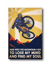 "Mountain Bike Downhill Race Racer MTB DH Art 4"" Custom Vinyl Decal Sticker"