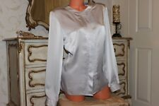 COTSWOLD Collections - ladies shiny grey long sleeved smart blouse top in size16