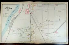 Hand Colored Map MANCHESTER NH Maps LYNDEBOROUGH AMHERST MONT VERNON SHARON 1892