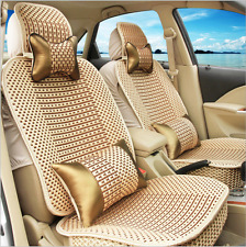 Ice silk car seat cover Luxury Golden whole set