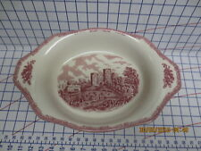 New Johnson Brothers Bros Old Britain Castles Pink Augratin Casserole Pan
