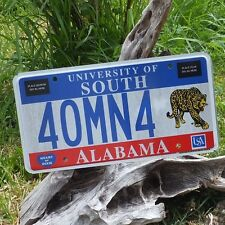 Number Plate of'Alabama (40MN4) - License Flat USA Authentic