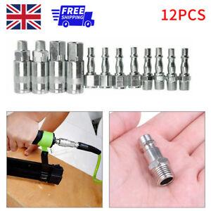 """1/4"""" British Quick Coupling Iron Galvanized 12PCS Air Hose Compressor Parts UK"""