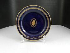 "Bing Grondahl Great Composers Dessert Plate Brahms Cobalt Gold Trim 6 3/4"" D"
