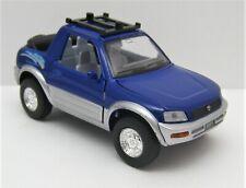 1994 - 2003 Toyota RAV4 Cabriolet Blue Car Model 1/32 Kinsmart Diecast Pullback