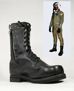 Military Flight Leather Boots / Russian Air Force