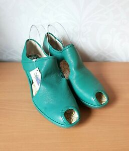 Fly London PALY womens leather wedge open toe peacock shoes UK 6 EUR 39 BNWD