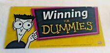 Winning Dummies Slot Machine Casino Topper Insert, Glass in good Shape