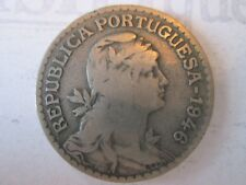 1946 ONE 1 ESCUDO! Vintage PORTUGAL coin currency: nickel composition      IS212