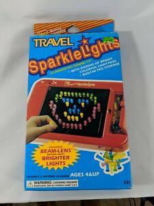 Vintage Ohio Art Travel Sparkle Lights Light Up Peg Toy W/ 80 Pegs EUC