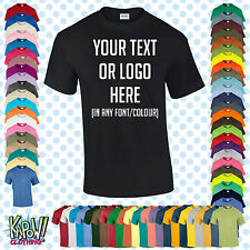 Custom Personalised Men's Printed T-SHIRT Name Funny Work Stag -Your text/logo 7