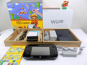 Super Mario Maker Premium Pack 32GB Limited Edition Wii U Console Game + Amiibo
