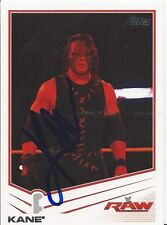 WWE KANE Signed 2013 Topps Card RAW SMACKDOWN