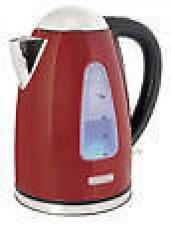 Lloytron E1506 1.7 Litre 3kw 360 Swivel Rapid Boil Cordless Kettle - Red Steel