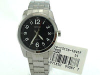 CASIO MTP1315D-1B Black Round Large Easy to Read Arabic Number Dial Steel Band