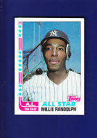 Willie Randolph AS 1982 TOPPS Baseball #548 (EX) New York Yankees