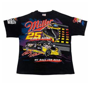 Miller 25 Years In Racing Rusty Wallace Tshirt   Vintage 90s NASCAR Motorsports