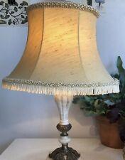 Retro vintage Braided fringed & tassled Cream Yellow Lamp Base Boudoir lampshade