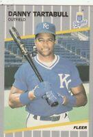 FREE SHIPPING-MINT-1989 Fleer Danny Tartabull #295 ROYALS PLUS BONUS CARDS