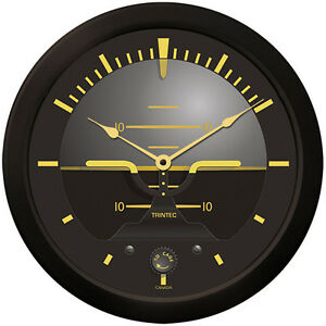 "Trintec 14"" Vintage Artificial Horizon Wall Clock 9063V-14  Nice Gift For Pilots"