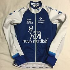 Men's 2016 Craft Novo Nordisk Pro Cycling Thermal Softshell Jacket, Blue, XS EUC