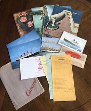 Cunard Line Rms Queen Mary Memorabilia 1965 4 Menus Postcards Telegram +
