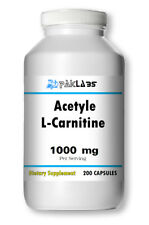 Acetyl L-Carnitine 1000mg Energy - Metabolism - Burns Fat Fast 200 Capsules NEW