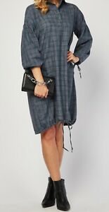 NEW WITH TAGS CHECKED COTTON SHIRT DRESS  SIZE XL  FITS APPROX SIZE  20
