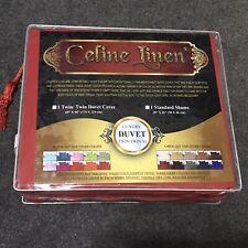 CELINE LINEN Luxury Duvet Cover Set 1800 Thread Count Egyptian Cotton Twin/Sham