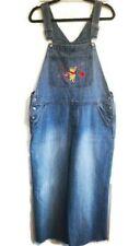 Disney Winnie the Pooh Jeans Bib Overalls Womens Size XL Licensed Used GUC