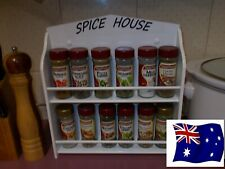 12 jar spice rack ( SPICE HOUSE ) made in OZ