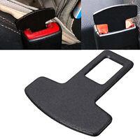 Black Car Safety Seat Belt Buckle Alarm Stopper Eliminator Clip Accessory