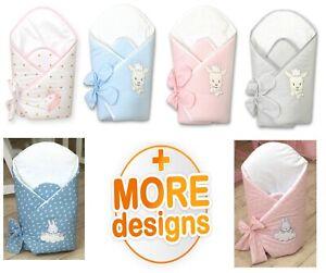 EMBROIDERED LUXURY BABY SWADDLE WRAP NEWBORN-INFANT BEDDING BLANKET,SLEEPING BAG