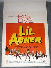LIL ABNER original 1959 movie poster JULIE NEWMAR/LESLIE PARRISH/STELLA STEVENS