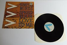 "Simple Minds Speed Your Love To Me 12"" Single A1U B1U Pressing - EX"