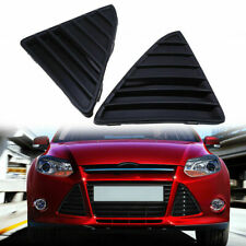 Front Bumper Grille Cover Trim Left Right Triangle Grill For 2012-14 Ford Focus